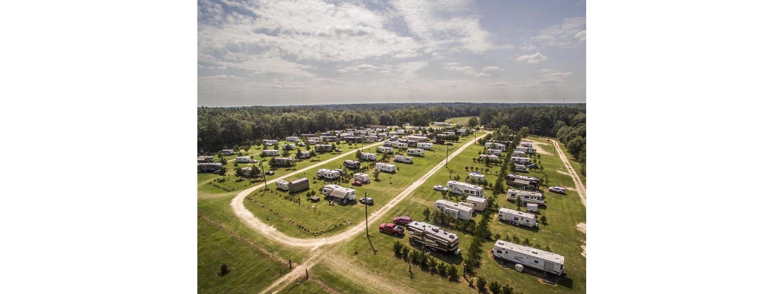 Arial view of A-Okay campground