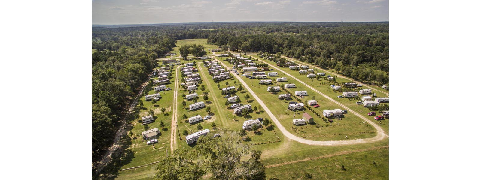 Arial view of the A-Okay Campground