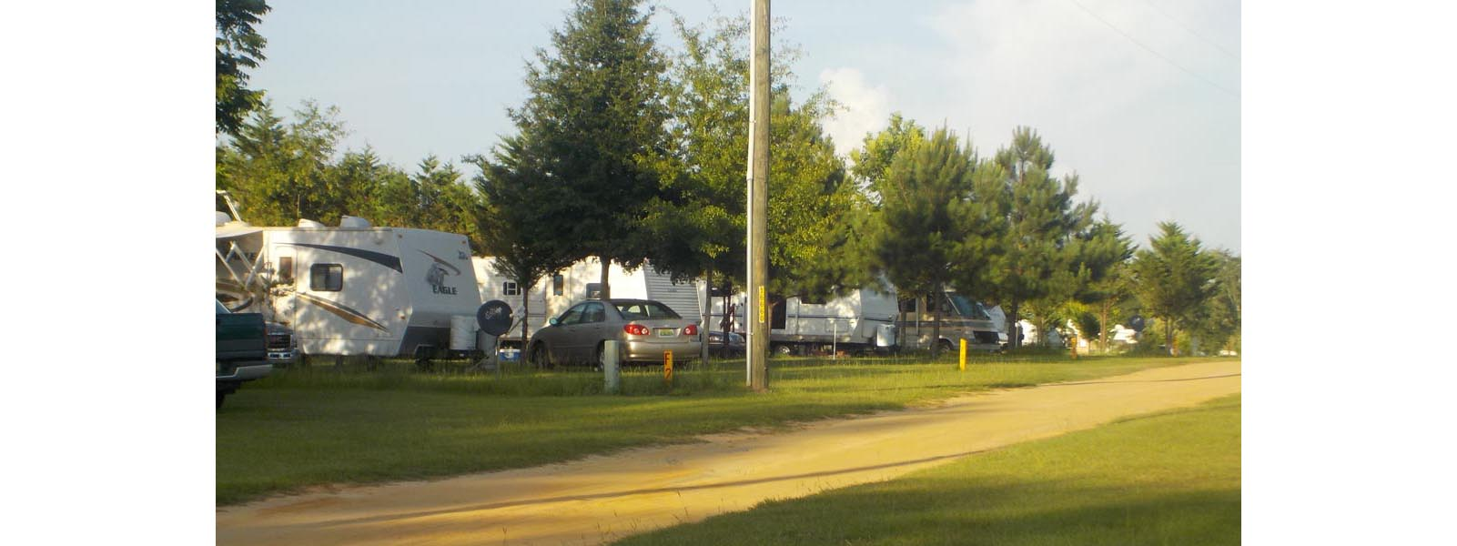 Picture showing multiple RV sites at the campground